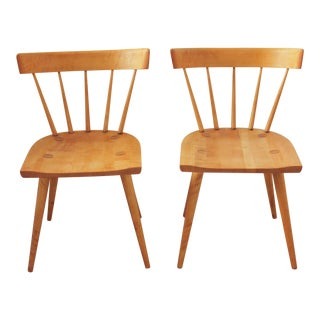 1950s Mid-Century Modern Paul McCobb Planner Group Spindle Back Chairs - a Pair