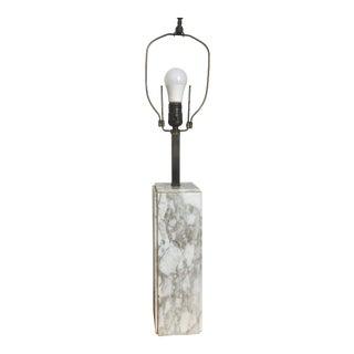 1970s Minimalist Modern Marble Table Lamp T.H. Robsjohn-Gibbings Style For Sale