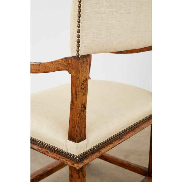 English Gothic Revival Wainscot Style Carved Hall Chair For Sale In San Francisco - Image 6 of 13