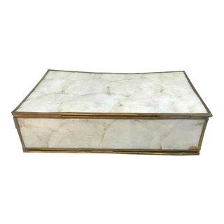 20th Century Hollywood Regency Capiz Shell Jewelry Box For Sale