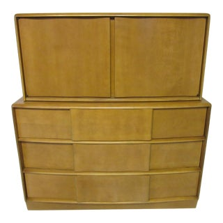 Mid-Century 2 Pc. Dresser Chest on Chest by Heywood Wakefield For Sale