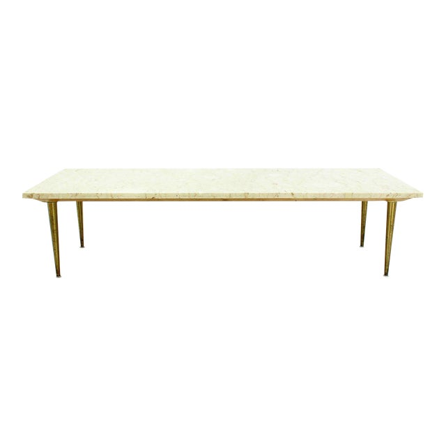 Mid-Century Modern Marble Coffee Table For Sale