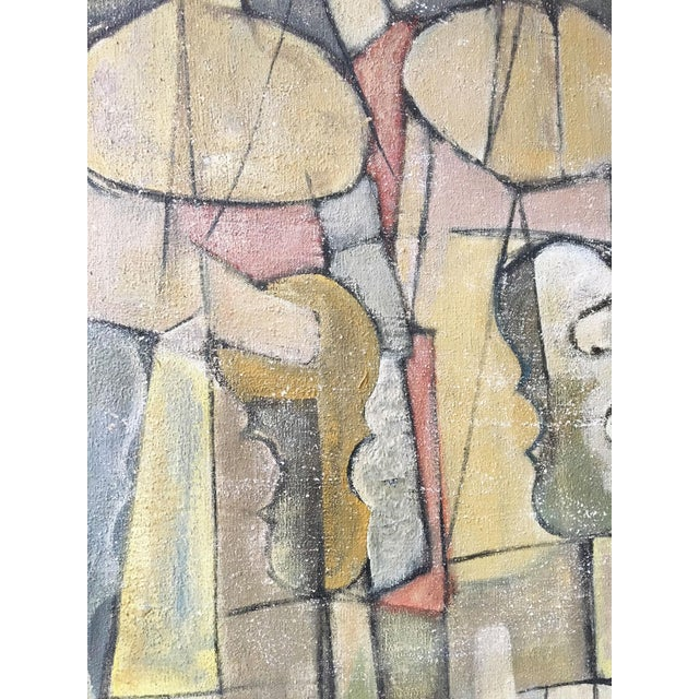 1940s Abstract Cubist Style Painting of French Nun Musicians For Sale - Image 4 of 7