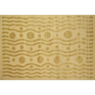 Stark Studio Rugs Contemporary New Oriental Tibetan 50% Wool/50% Silk Rug - 6′1″ × 9′2″ For Sale