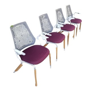 Modern Herman Miller Sayl Side Chairs- Set of 4 For Sale