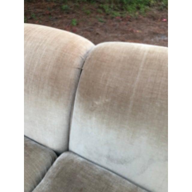 O Henry House Ltd Down Filled Velvet Chenille Sofa For Sale - Image 11 of 13