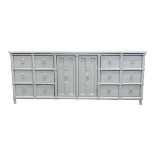 Thomasville Furniture Gray Lacquer Dresser For Sale