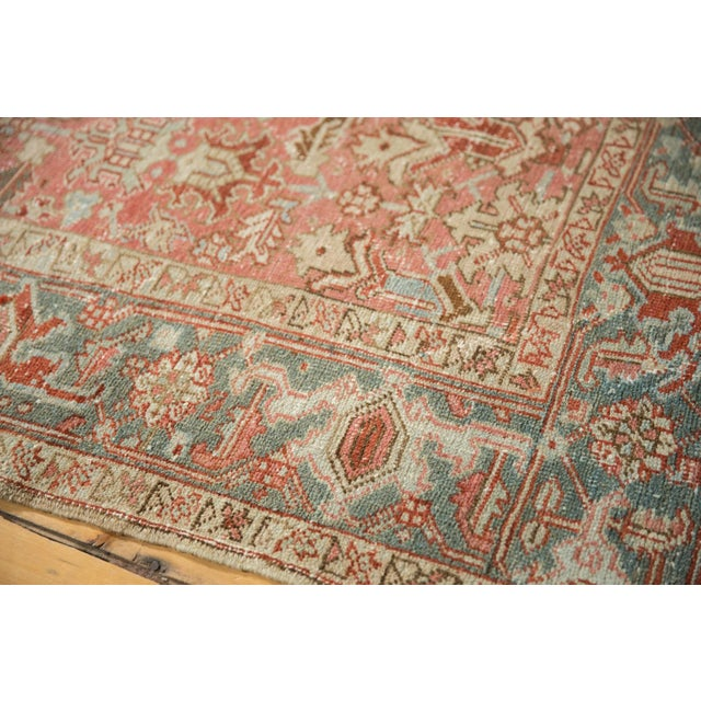 "Old New House Vintage Distressed Heriz Carpet - 6'8"" X 9'6"" For Sale - Image 4 of 13"