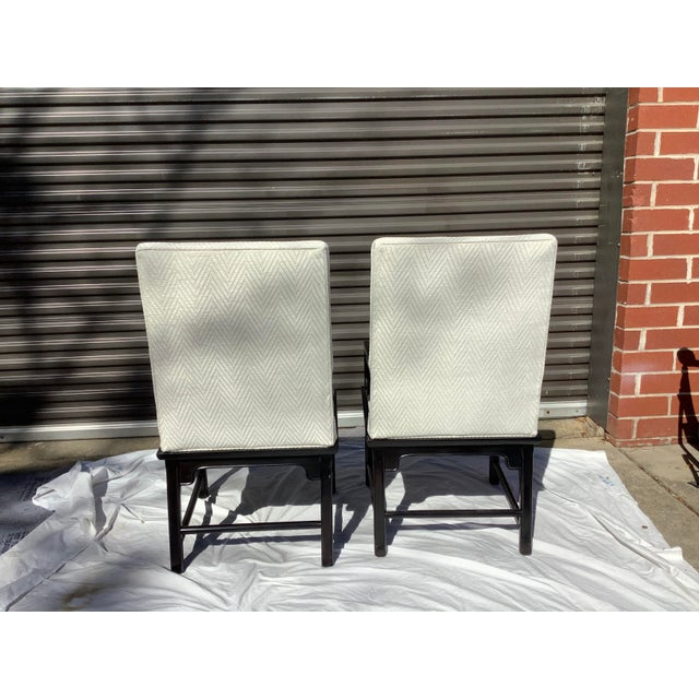 Mid-Century Modern 1970s Greek Key Arm Chairs by Century, a Pair For Sale - Image 3 of 12