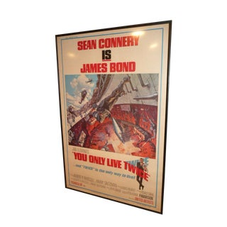 "Original 1967 007 James Bond ""You Only Live Twice"" United Artists Full Size Poster For Sale"