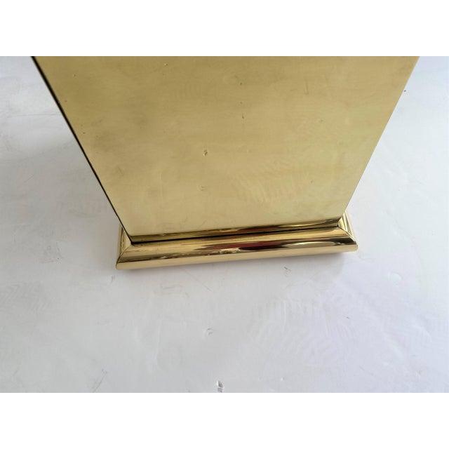 "30"" Polished Brass Pedestal by Crafts For Sale - Image 9 of 13"