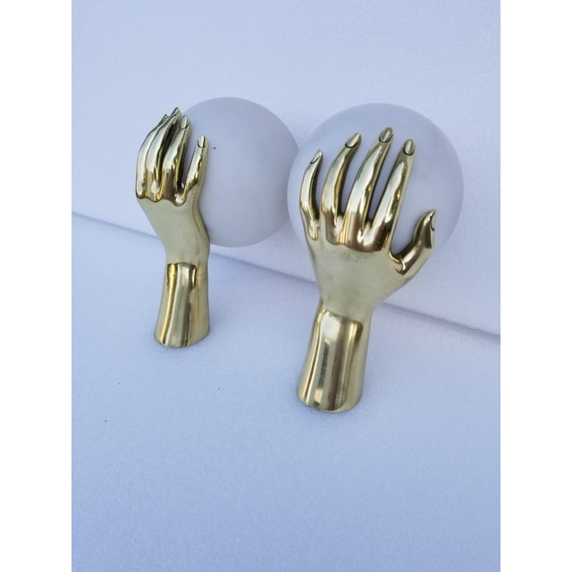 Metal Maison Arlus Hand Sconces - a Pair For Sale - Image 7 of 8