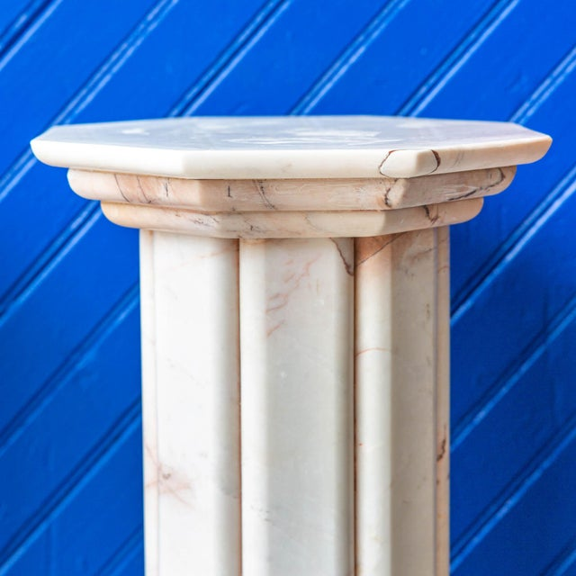 Vintage Deco Style White and Pink Columns – a Pair For Sale - Image 4 of 9