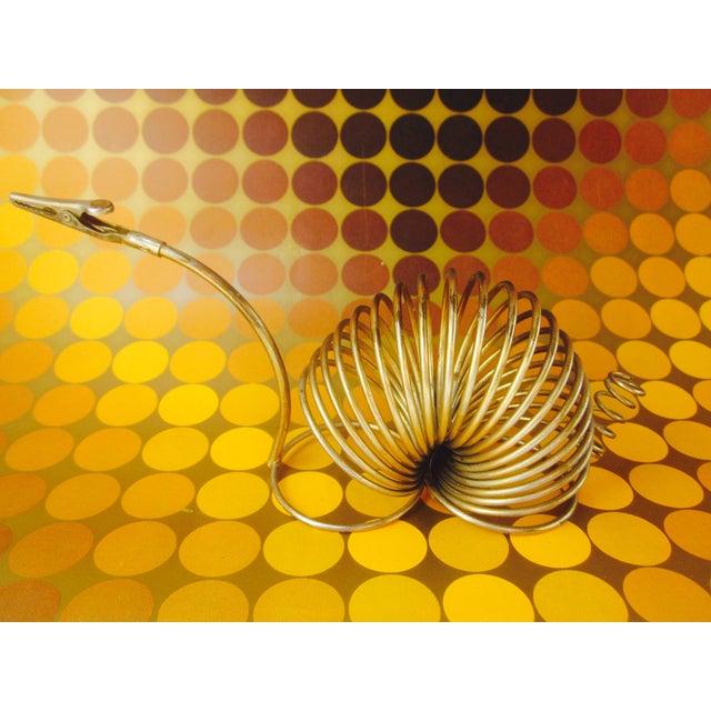Brass Snail Slinky Memo Holder Paper Clip - Image 6 of 6