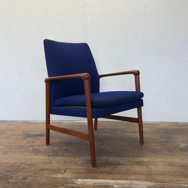 Mid-Century Fritz Hansen Danish Teak Armchair Lounge For Sale - Image 13 of 13