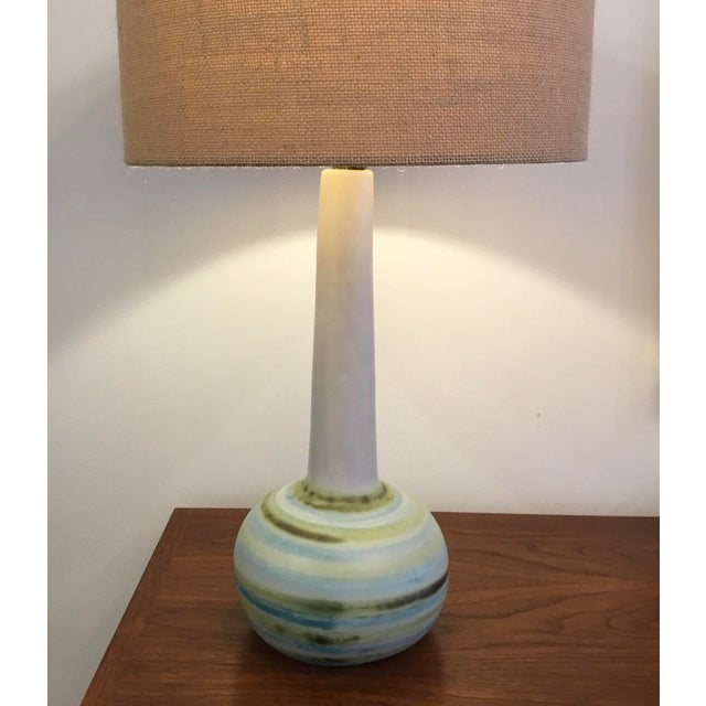 Mid-Century Modern Mid-Century Modern Ceramic Table Lamp by Martz For Sale - Image 3 of 11