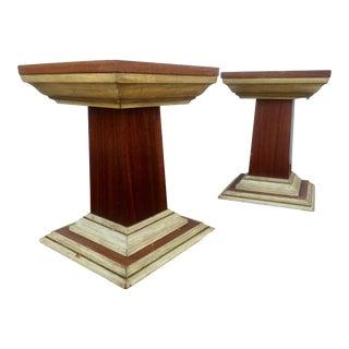 Distressed Vintage Pedestals - A Pair For Sale