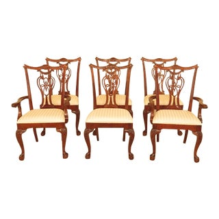 1990s Vintage Pennsylvania House Clawfoot Cherry Dining Room Chairs - Set of 6