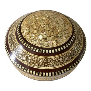 Wood & Mother-Of-Pearl Inlaid Box For Sale