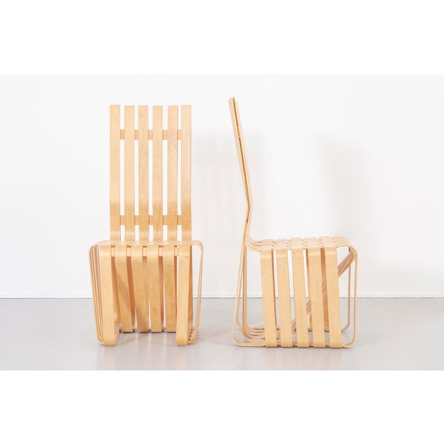 Modern Set of Six Frank Gehry High Sticking Chairs For Sale - Image 3 of 13