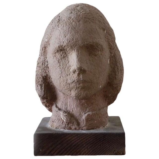 Gaetano Cecere Plaster Sculpture Wood Base #37 For Sale