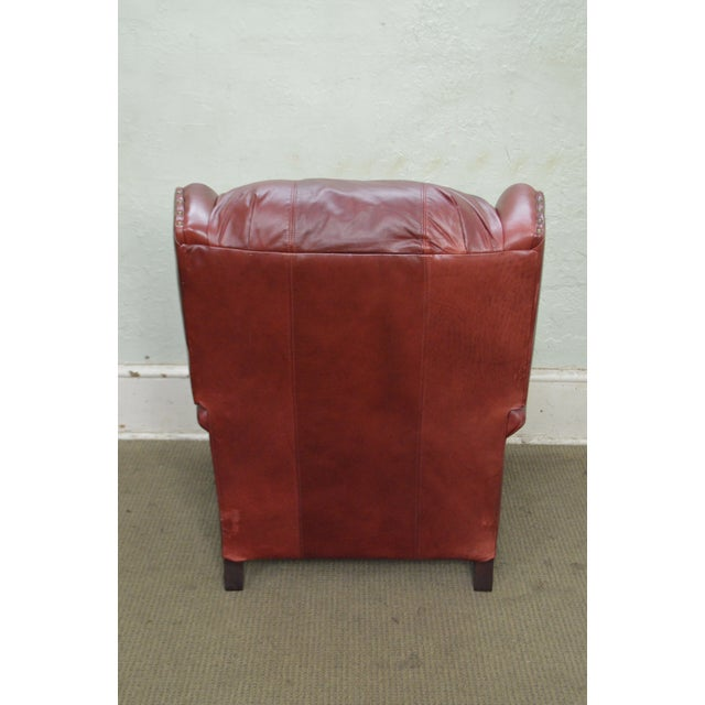 Bradington Young Oxblood Leather Recliner Lounge Chair - Image 4 of 10