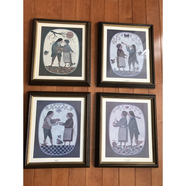 Grouping of 4 Primitive Framed Pictures - Image 2 of 7