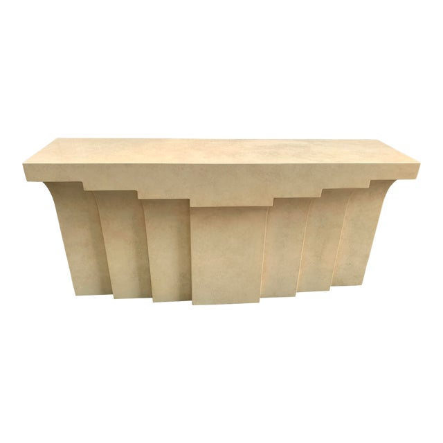 Lacquered Stepped Console For Sale