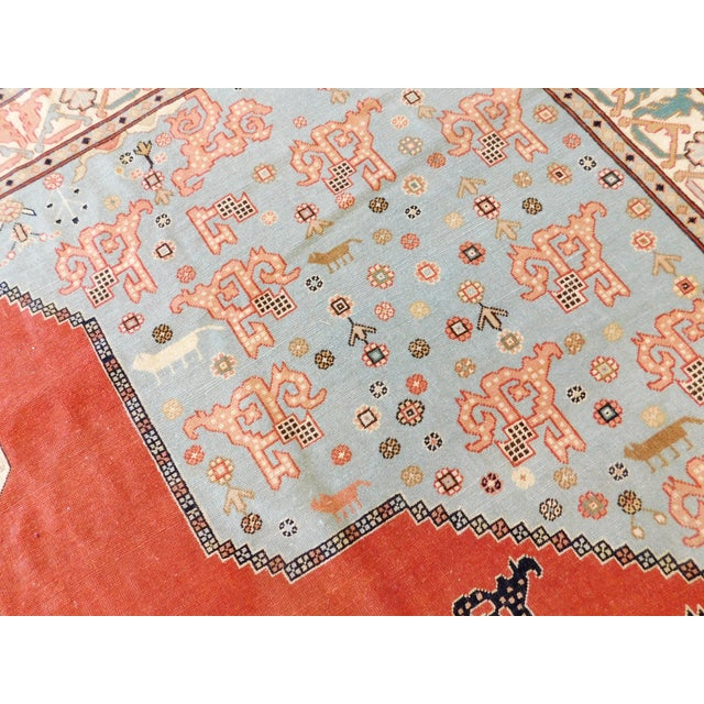 """Hand-Knotted Turkish Serapi Rug - 8'7""""x 12' For Sale - Image 4 of 12"""