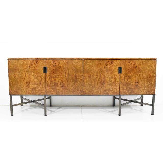 Mid-Century Modern Roger Sprunger for Dunbar Burled Olivewood Sideboard or Credenza For Sale - Image 3 of 13