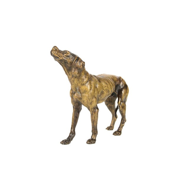 19th Century Bronze Hunting Dog Sculpture - Image 4 of 9