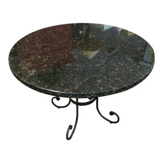 Black Marble Dining Room Table