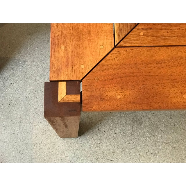 Rob Edley Welborn Prototype Square Coffee Table in Spanish Cedar For Sale In Palm Springs - Image 6 of 11