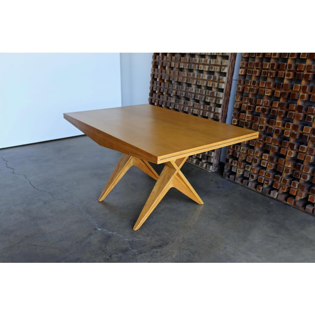 1940s Dan Johnson Dining Table For Sale In Los Angeles - Image 6 of 10