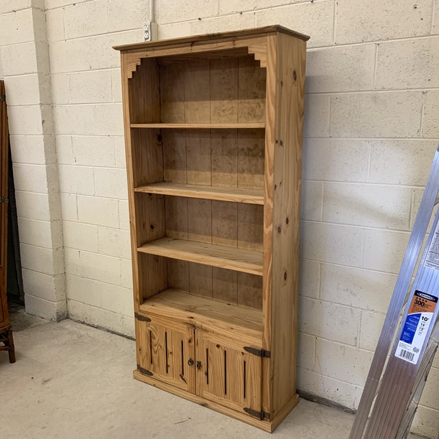 Great unfinished pine bookcase. What you see is what you get! I love these for a kitchen or pantry. Made in Mexico, so not...