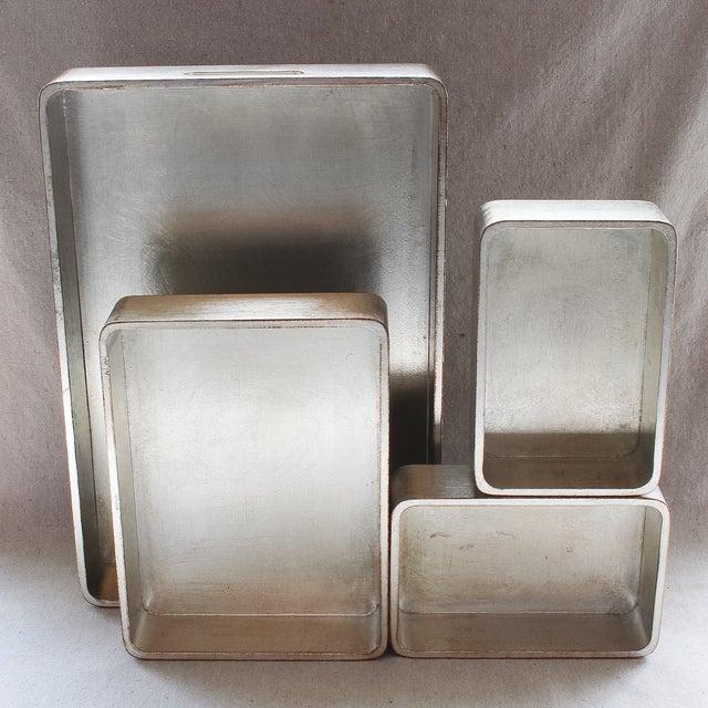 4-Piece Florentine Silver-Gilt Nesting Trays - Image 5 of 11