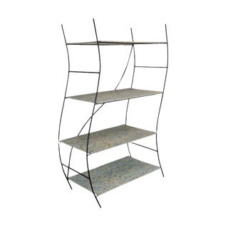 Whimsical Mid Century Modern Iron Etagere Display Rack For Sale