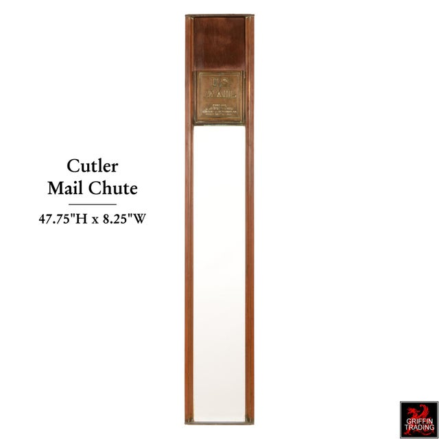 Gold Antique Cutler Mailbox and Mail Chute For Sale - Image 8 of 11