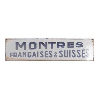 1920s Enamelled Parisian Shop Sign For Sale