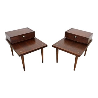 Mid-Century Modern Merton Gershun American of Martinsville End Tables - a Pair For Sale