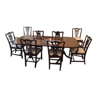 Chippendale Councill Craftsmen Mahogany Dining Set - 9 Pieces For Sale