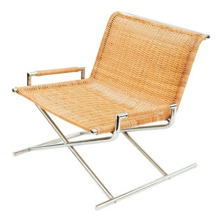 Ward Bennett Wicker Sled Lounge Chair for Brickel Associates For Sale