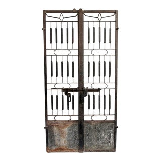 Vintage Indian Iron Gate For Sale
