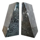 Image of Vintage Geometric Marble Bookends, a Pair For Sale