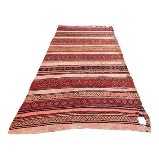 Moroccan Vintage Kilim Tribal Rug, circa 1960's For Sale