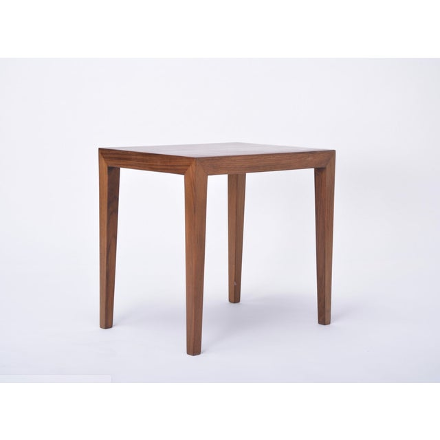 Wood Vintage Rosewood Side Table by Severin Hansen, 1960s For Sale - Image 7 of 9