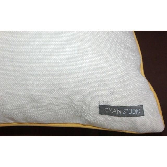 Yellow Ikat Throw Pillows - A Pair - Image 5 of 6