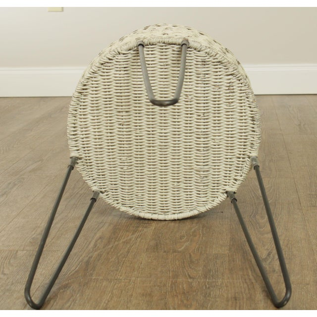 Round Wicker Planter Table With Hairpin Legs For Sale - Image 9 of 12