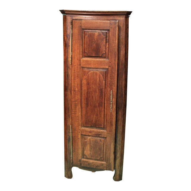 Early 20th Century Antique French Corner Cabinet For Sale
