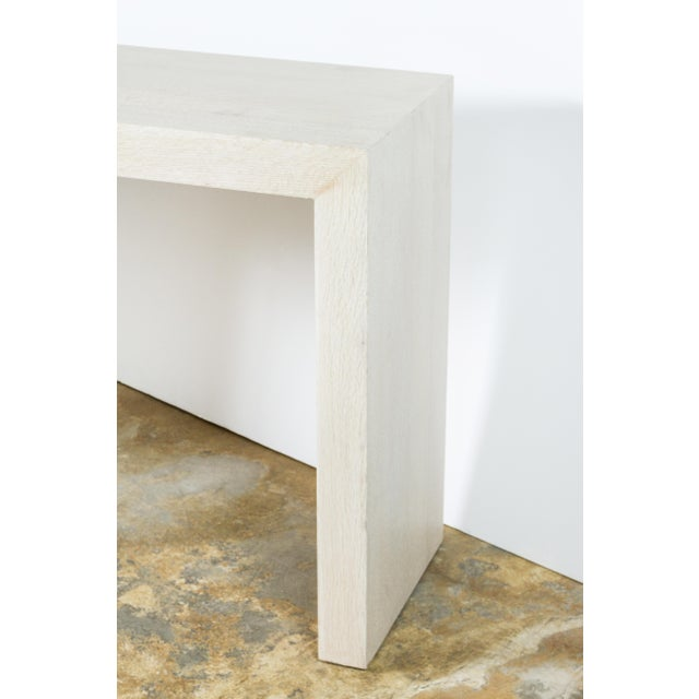 Paul Marra Marble and Bleached Oak Console For Sale - Image 11 of 11